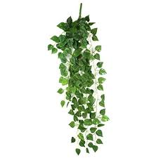 amazon com atificial fake hanging vine plant leaves garland home