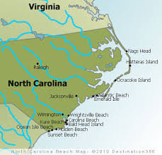 america map carolina carolina beaches map outer banks beaches map