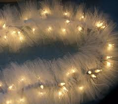 ivory tulle netting on mini string lights swag garland 2676187