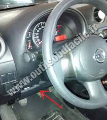 obd2 connector location in nissan march micra 2010 2017