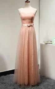 peach color long length bridesmaids dresses peach dress for