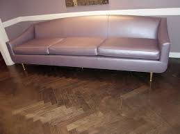 Riemann Sofa 1950 U0027s Italian Lavender Metallic Leather Sofa At 1stdibs