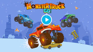 monster truck race videos monster truck go truck racing and driving games for kids youtube