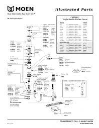 moen single lever kitchen faucet repair moen single handle kitchen faucet repair diagram moen single