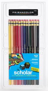 prismacolor scholar colored pencils prismacolor scholar erasable colored pencils 12 set 051844