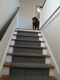Modern Rug Runners For Hallways by Dark Geometric Stair Runner I Like How Traditional And Modern