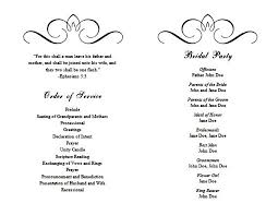 word template for wedding program wedding program templates you can get for free just for
