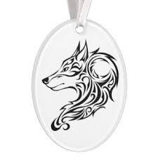 tribal wolf ornaments keepsake ornaments zazzle