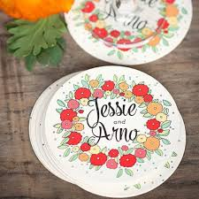 personalized wedding plate personalized wedding coasters