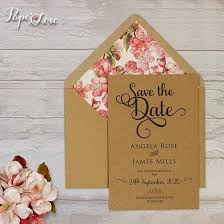 Rustic Save The Date Rustic Save The Date Craft Paper With Eko Lined Envelope Pink