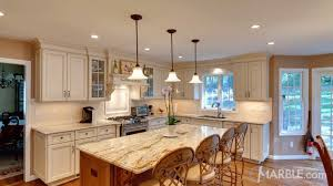 white kitchen countertops with brown cabinets top 5 kitchen countertop choices for white cabinets marble