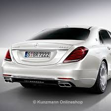 mercedes s class w222 s class w222 rear diffusor visible exhaust tips genuine