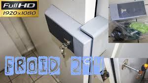 poign馥 de chambre froide froid294 le remplacement d une poignée de chambre froide cassée