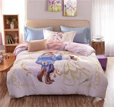 girls pink and purple bedding pink beauty and the beast disney cartoon 3d printed bedding set