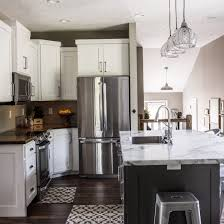 white kitchen cabinets kendall charcoal bm painted island
