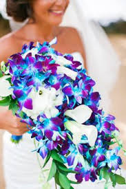 purple and blue wedding cobalt blue kauai island wedding kauai island