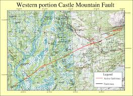 Alaska On A Map by Gis Coverages Of The Castle Mountain Fault South Central Alaska