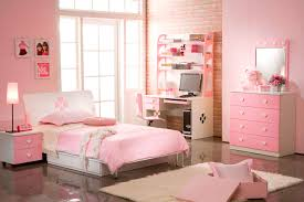 Wonderful Bedrooms For Girls Pink Bedroom Idea White Bedding - Interior design girls bedroom