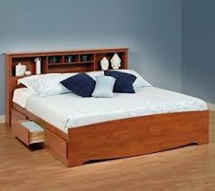 king storage bed with bookcase headboard sevenhints