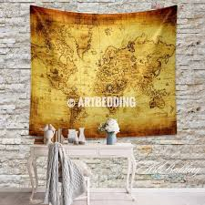 Ancient World Map by Ancient World Map Wall Tapestry Vintage World Map Wall Hanging