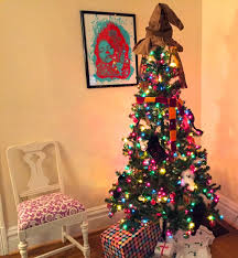 our harry potter christmas tree the surznick common room