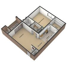 Bedroom Floorplan by One Bedroom Floor Plan The Viridian Apartments