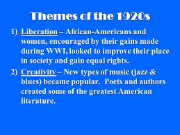 literature themes in the 1920s the roaring 20s the 1920s during the 1920s the u s experienced