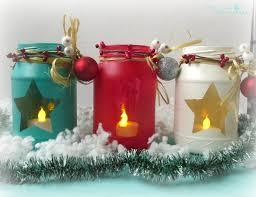 diy painted holiday mason jars and handmade stars the creative