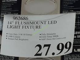 Costco Led Light Fixture Costco 962686 14 Flushmount Led Light Fixture Tag Costcochaser