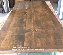 staining a table top staining a table top darker dark walnut stained pine refinish veneer