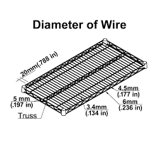 Stackable Wire Shelves by Wire Shelving Size Guide