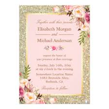 blush and gold wedding invitations blush pink invitations announcements zazzle