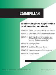 manual de instalacion de motores marinos cat internal combustion