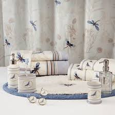 Dragonfly Shower Curtains Blue Dragonfly Valley Floral Fabric Shower Curtain Bath Rug