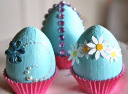 faux eggs for decorating easy diy easter decorations 2015