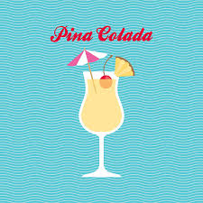 pina colada cocktail themed print by applemint designs