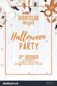dj halloween background beautiful halloween party flyer treats top stock vector 681951925