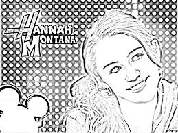 hannah montana coloring pages kids world