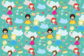 cinderella wrapping paper customised wrapping paper dots and doodles design