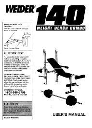 download weider 140 weight bench combo webe1407 user u0027s manual for