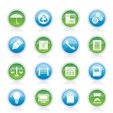 icones de bureau entreprise et bureau des icônes image vectorielle