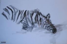 zebra wildlife painting step by step demonstration