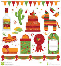 Mexican Party Flags Mexican Party Stock Vector Image Of Pinata Party Hats 19619575