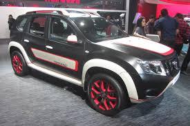 nissan india sporty modified nissan terrano in india at delhi auto expo 2016