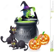 cartoon halloween picture halloween cartoon witch scene stock images image 34386024