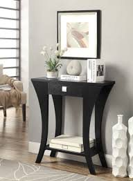 black sofa table with drawers vintage lighting idea also amazon com black finish console sofa
