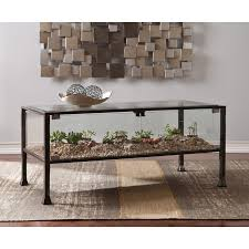 Coffee Tables With Shelves Three Posts Aldridge Terrarium Coffee Table Reviews Wayfair