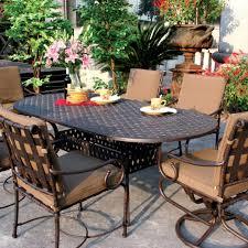 Patio Dining Sets 7 Piece - darlee malibu 7 piece cast aluminum patio dining set ultimate patio