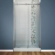 48 Inch Glass Shower Door Maax Halo Big Roller 48 Inch Frameless Sliding Shower Door With