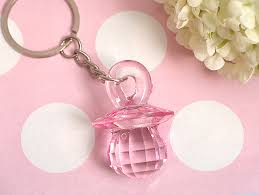 baby keychains pink baby pacifier keychain